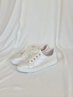 Sneakers-Brudesko-Emily-Satin-Sløjfe