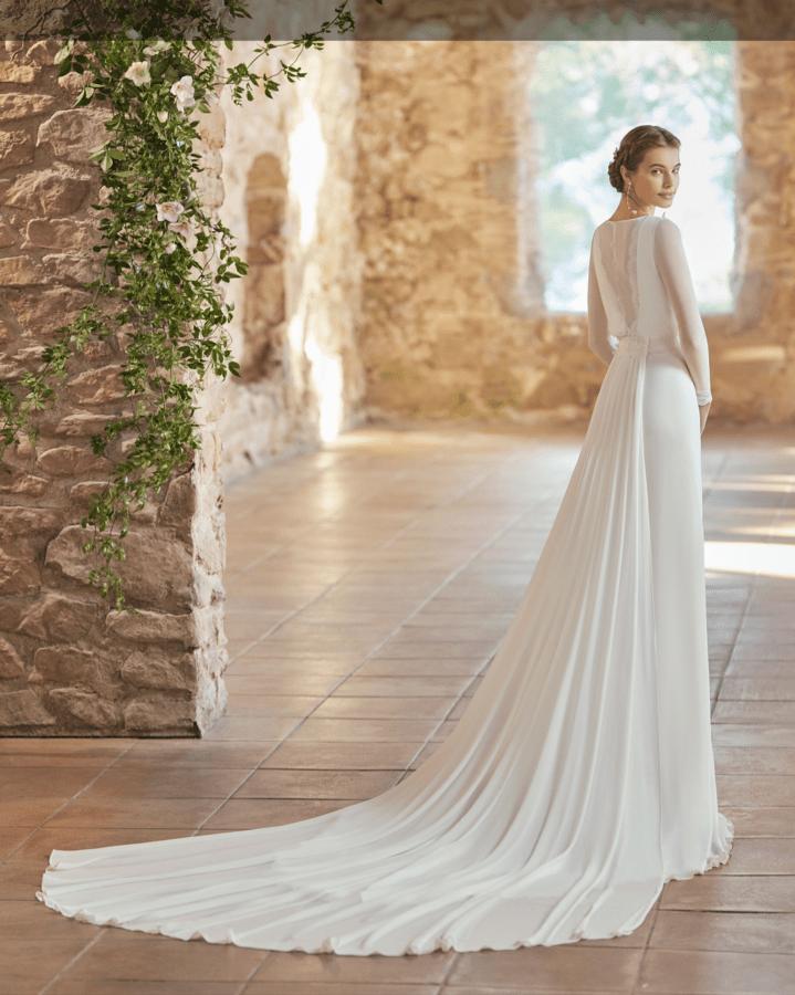 Brudekjoler 2022 - Palermo med smuk ryg og langt slæb