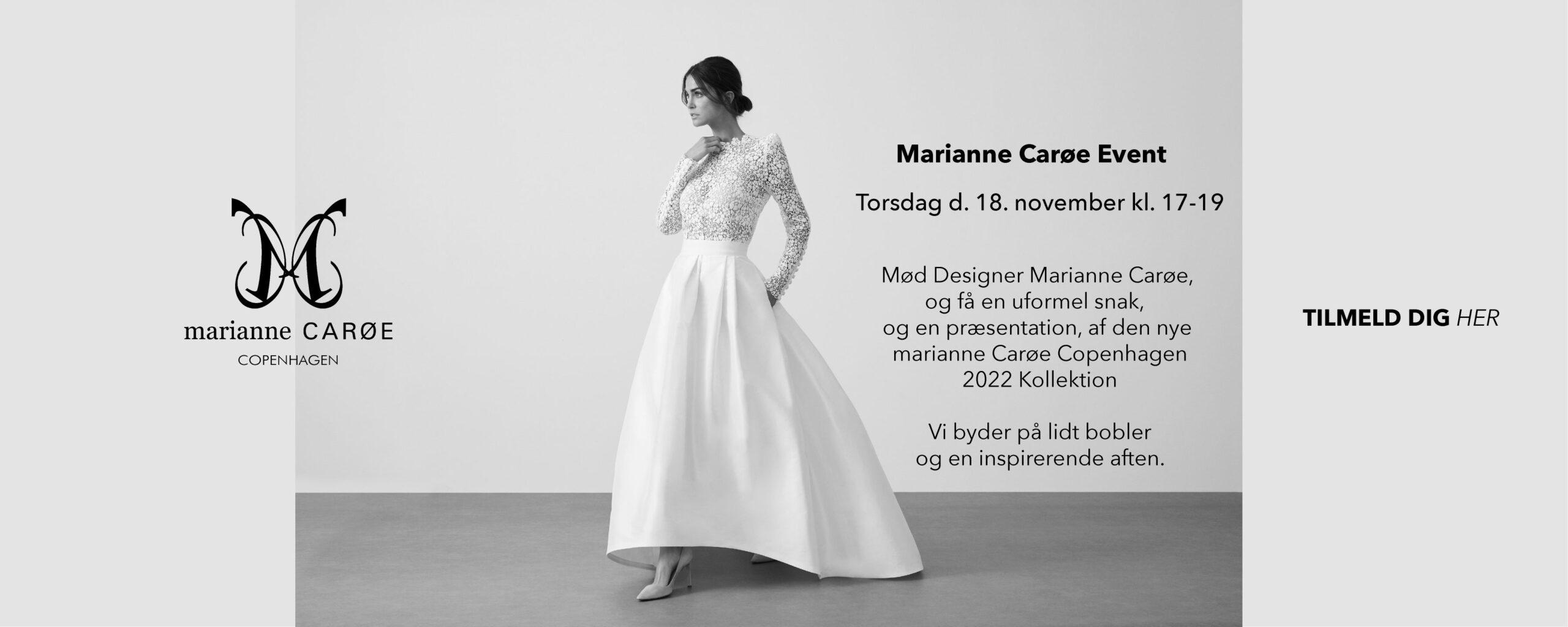 Marianne Carøe 2022 brudekjole Event